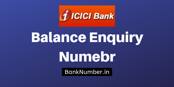 icici bank account balance check toll free number